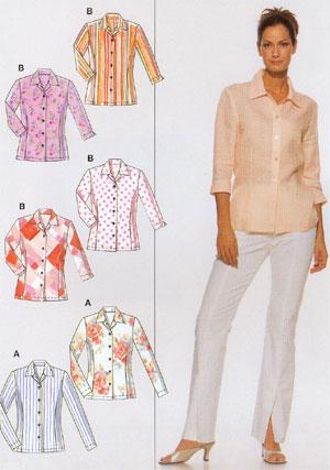 Летние блузки с выкройками