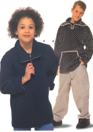 выкройка трикотажной кофты для девочки рост см.
