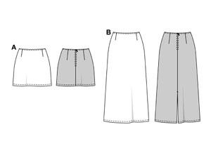 Выкройки юбок - Все выкройки. Бесплатные выкройки женской одежды с описанием как шить