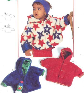 Описание: выкройка вязаной куртки с капюшоном.