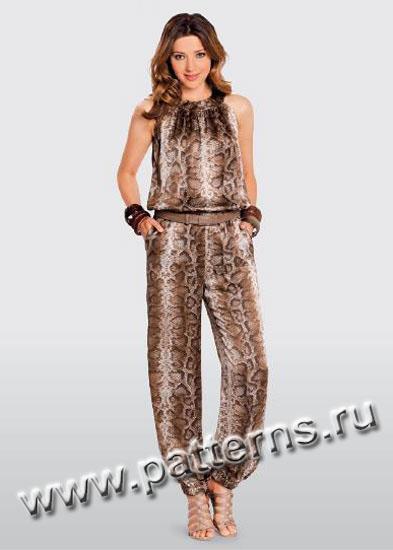 Выкройка Женская (брюки-шорты-комбинезоны) 7235