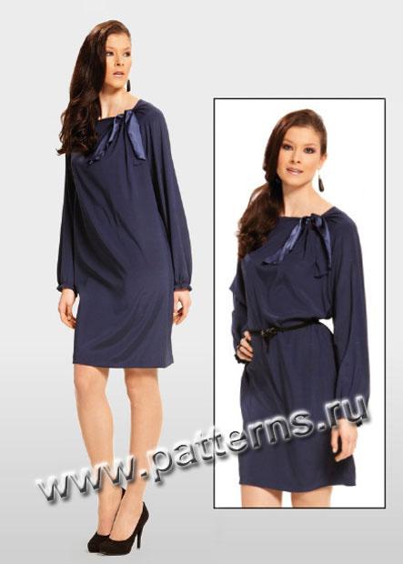 Платье с одним рукавом выкройка бурда