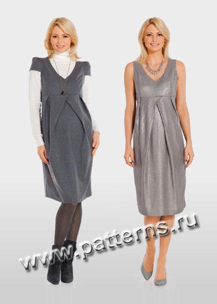 Простые выкройки платьев для беременных - фото, обзоры и отзывы