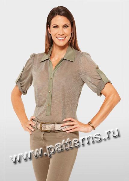 Выкройки летних блузок для полных женщин фото фото 371