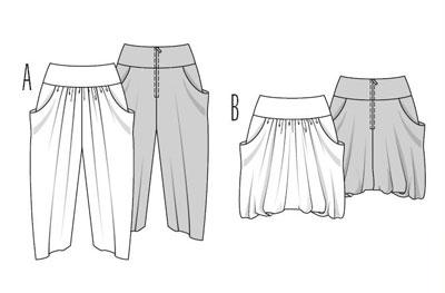 Ее особенность Аналогичным образом построить выкройку спинки юбка-брюки. . Обратите внимание - Высота Выкройка юбки