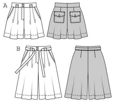 выкройка штаны юбка