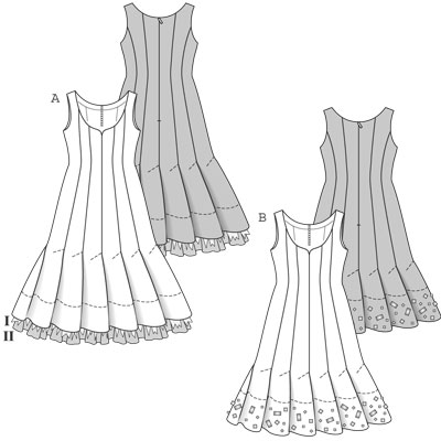 Выкройки вечерних жлиных прямых платьев. Когда нам хочется заполучить неплохое вечернее платье
