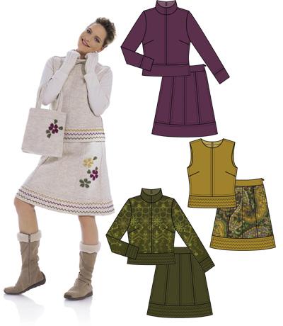 Выкройка Burda (Бурда) - Куртка, юбка, сумка.