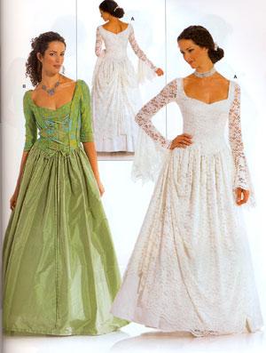 Выкройка Burda (Бурда) — Вечернее платье с корсажем