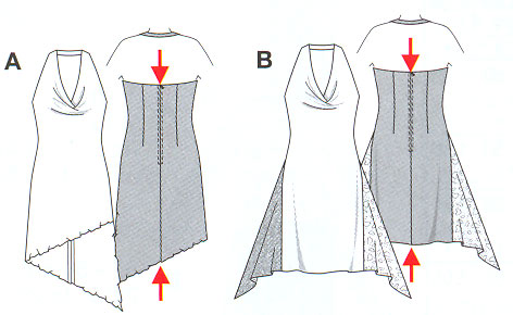 Выкройка Burda (Бурда) - Вечернее платье с драпировкой
