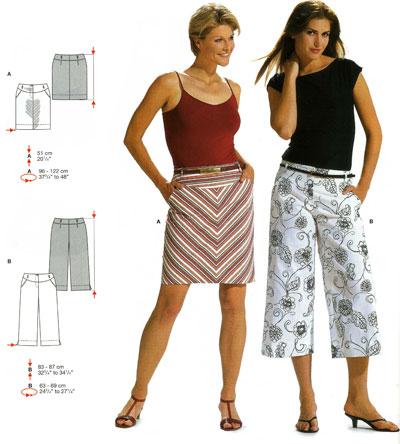 Выкройка юбка-брюки. Примерная