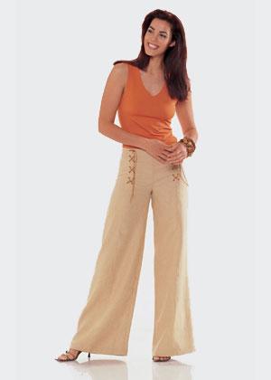 Выбираем фасон широких брюк под этот жакет (между марлен и .... другими.