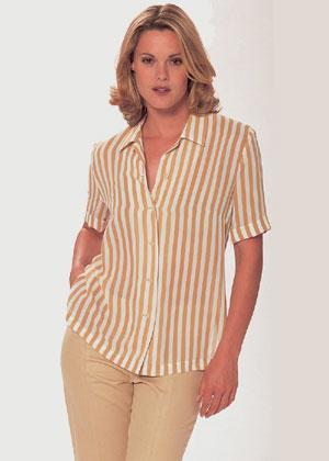 Выкройки блузки с V-образным