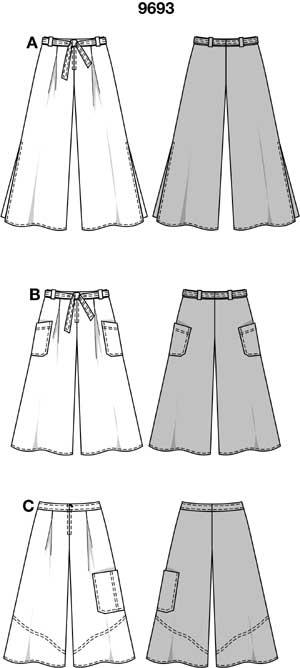 Юбка-шорты фото выкройка. . - Каталог блуз, кофт и шорт 2015 года