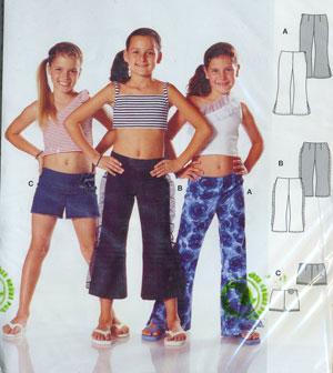 Жизнь выкройка брюк для девочки